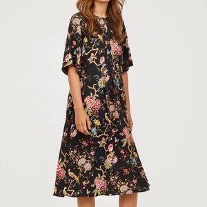 GP & J. Baker x H&M bird print dress